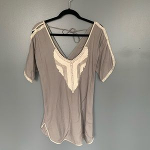 Unique One Of A Kind Blouse Grey & White Size S